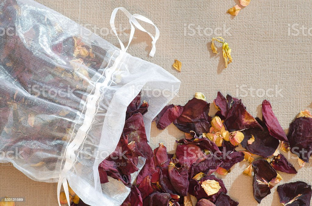 popourri dried flowers petals stock photo