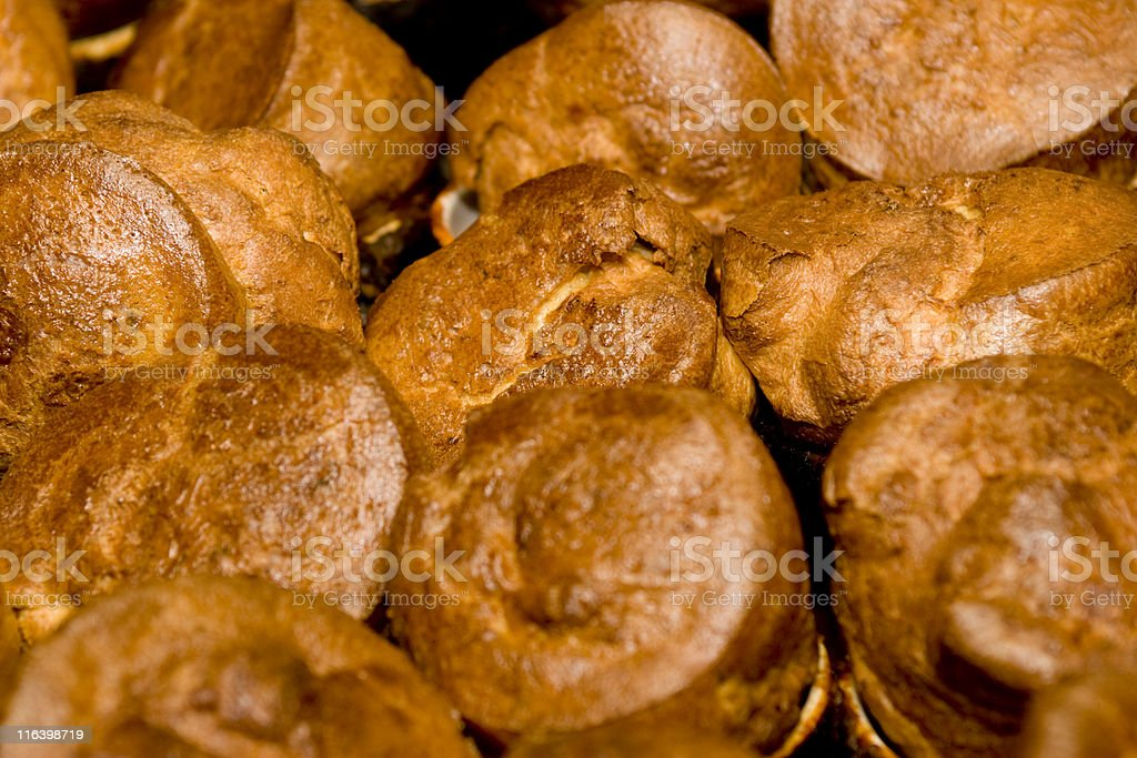 Popovers Yorkshire Pudding stock photo