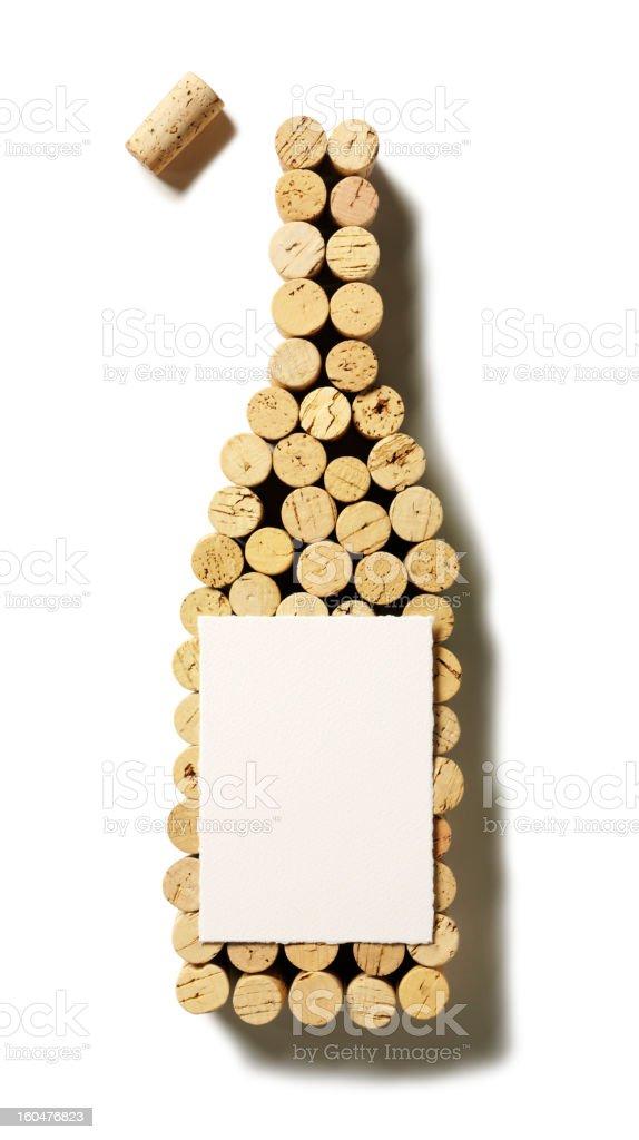 Popped Cork Wine bottle stock photo