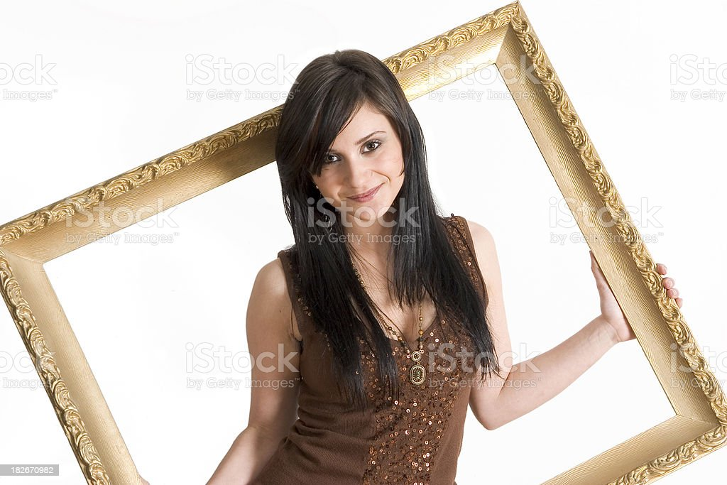Popping out of the frame. royalty-free stock photo