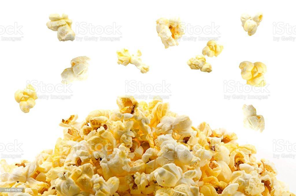 Popping popcorn stock photo