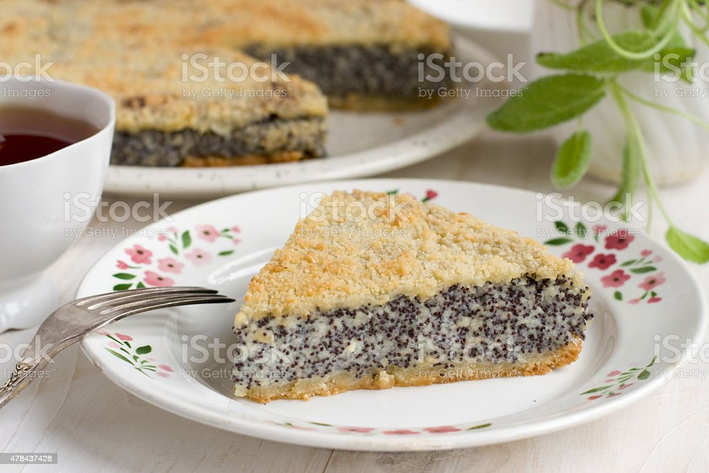 Poppy cake royalty-free stock photo