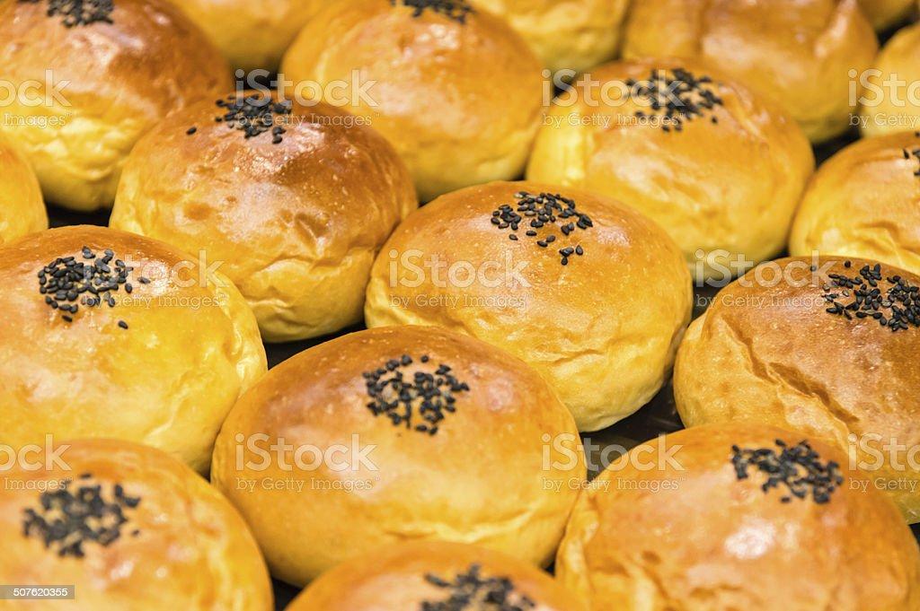 Poppy Seed Bread  Buns stock photo