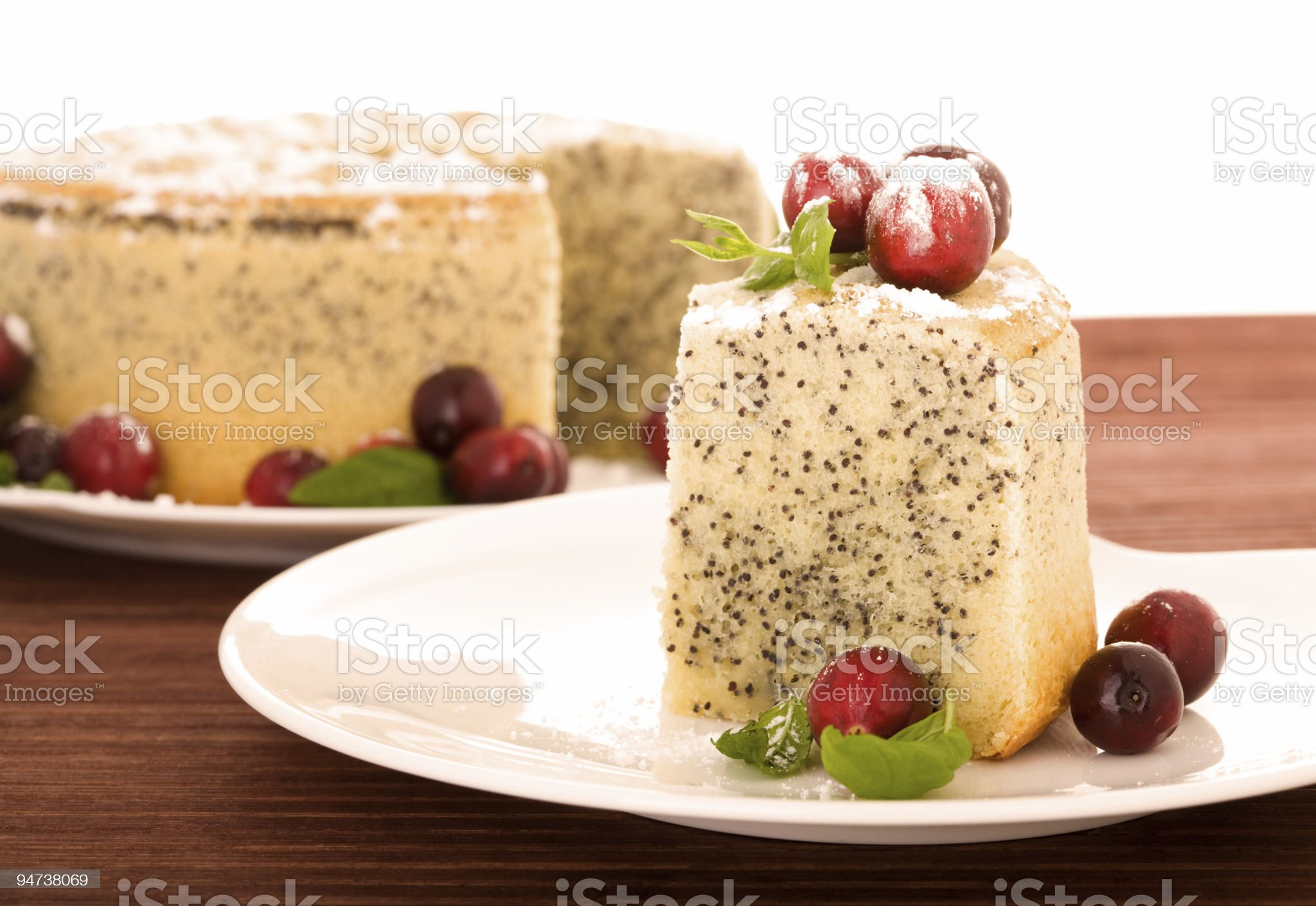 Poppy seed cake royalty-free stock photo