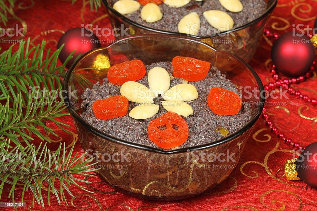 Poppy seed dessert royalty-free stock photo