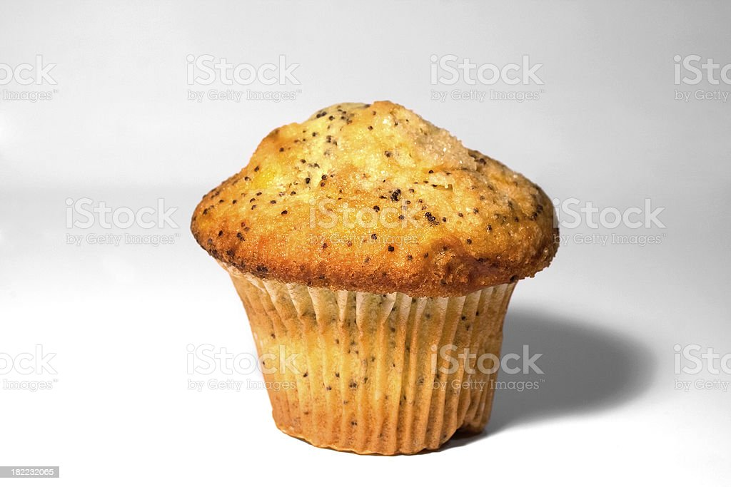 Poppy Seed Muffin royalty-free stock photo