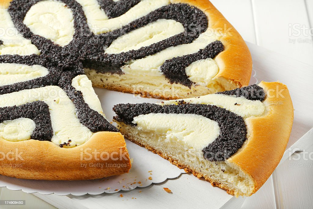 poppyseed and curd pastry stock photo