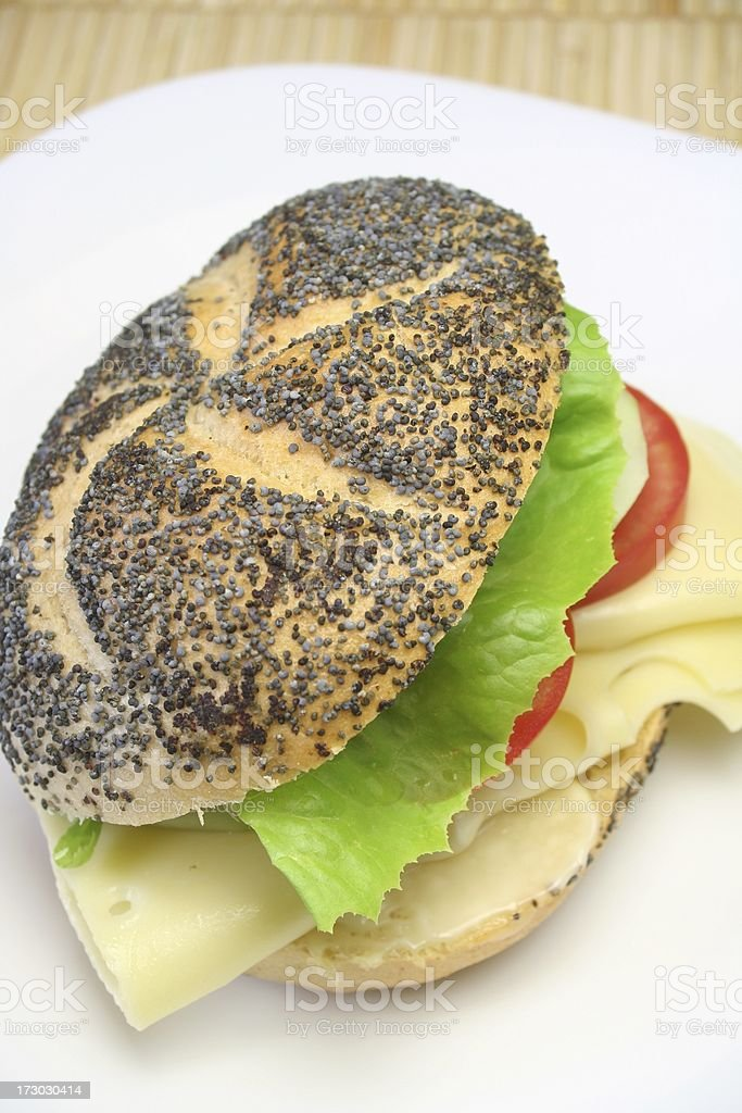 Poppyseed Bun royalty-free stock photo