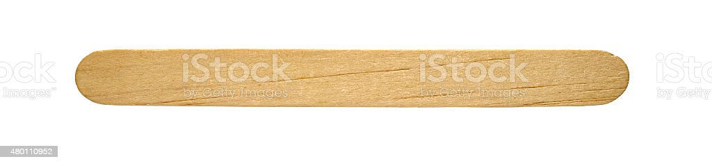 popsicle stick o the white background stock photo