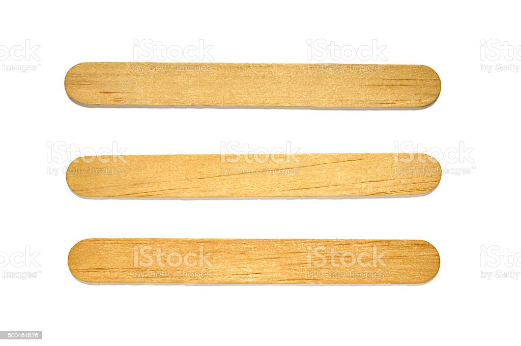 Popsicle stick stock photo