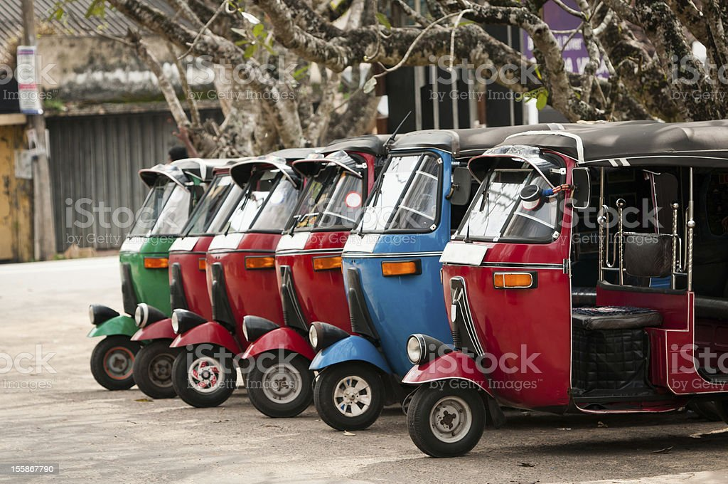 Popular asian transport as a taxi. stock photo