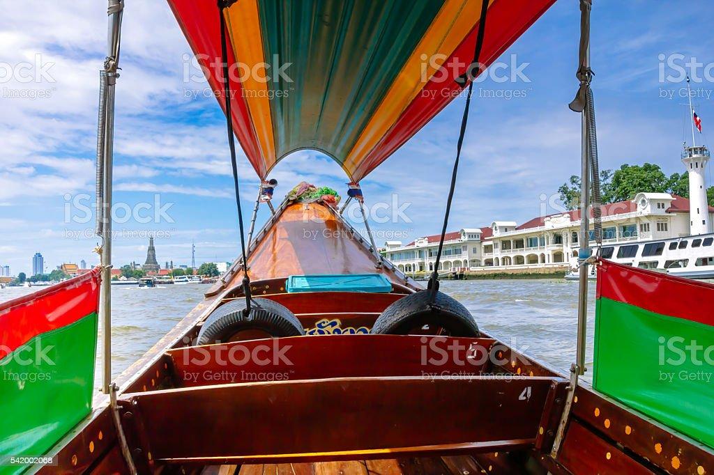 Famosa viagem de barco no rio Chao Phraya. foto royalty-free