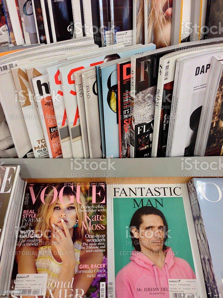 popular british magazines royalty-free stock photo