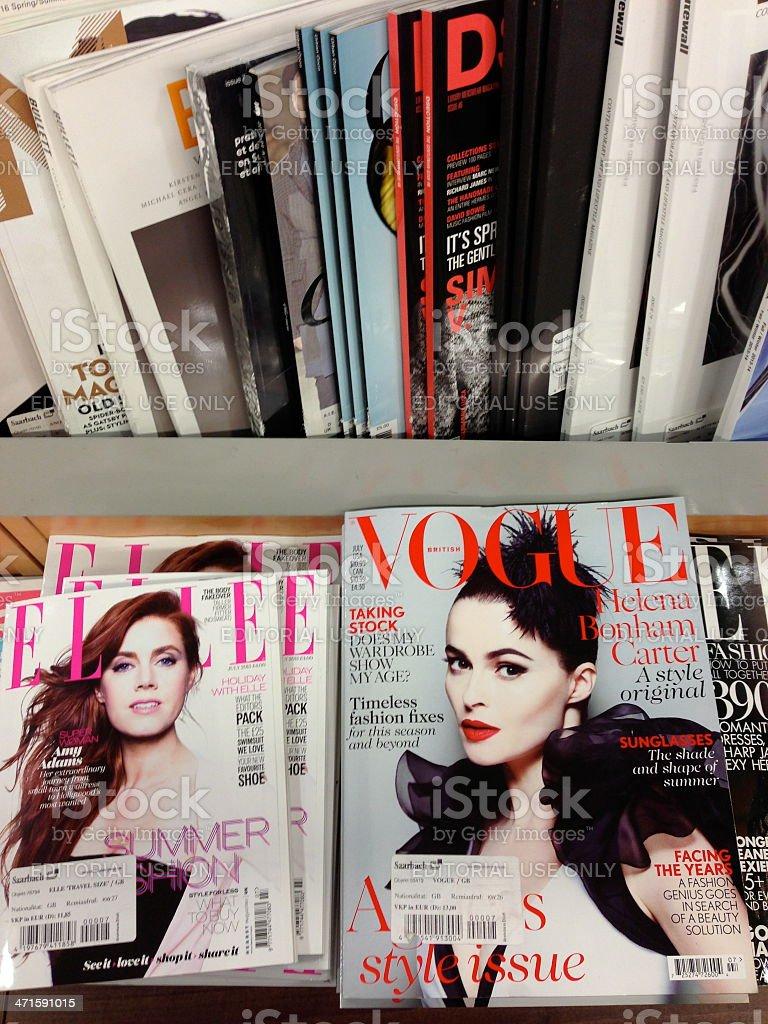 popular british magazines stock photo