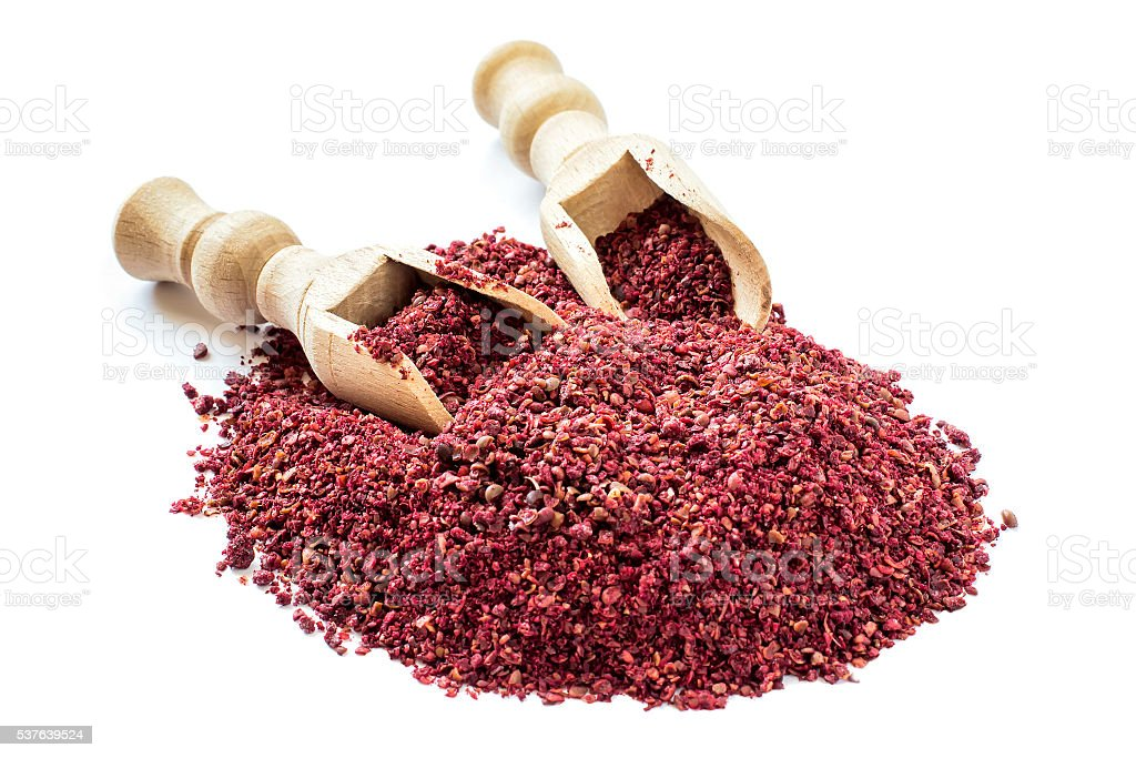 Popular eastern spice sumac stock photo