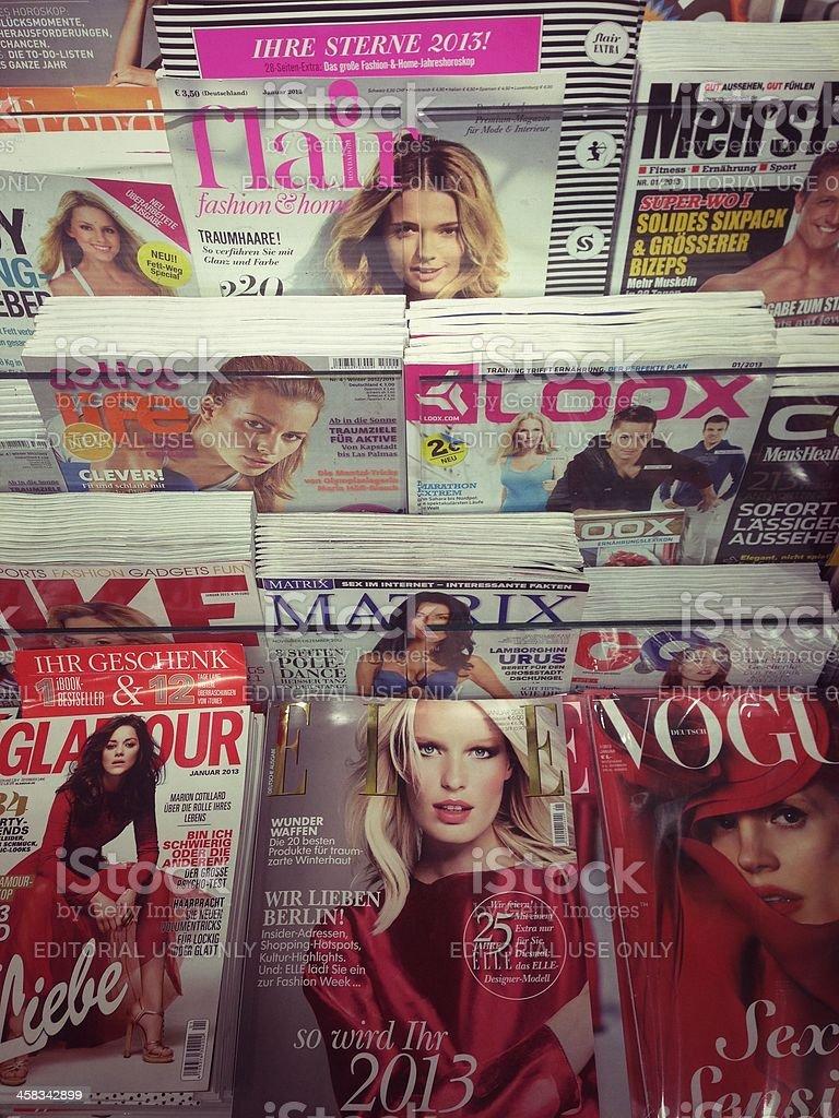 popular fashion magazines stock photo