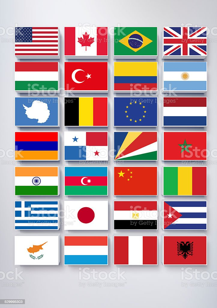 Popular Flags stock photo