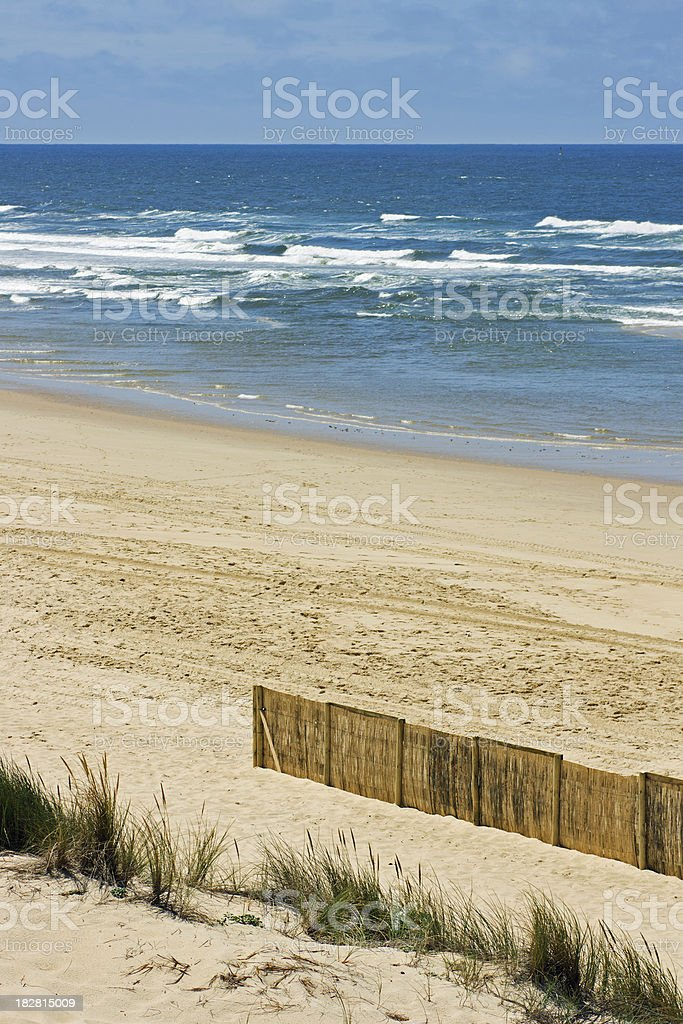 Popular for family tourism on the Cote d'Argent: Mimizan Plage stock photo