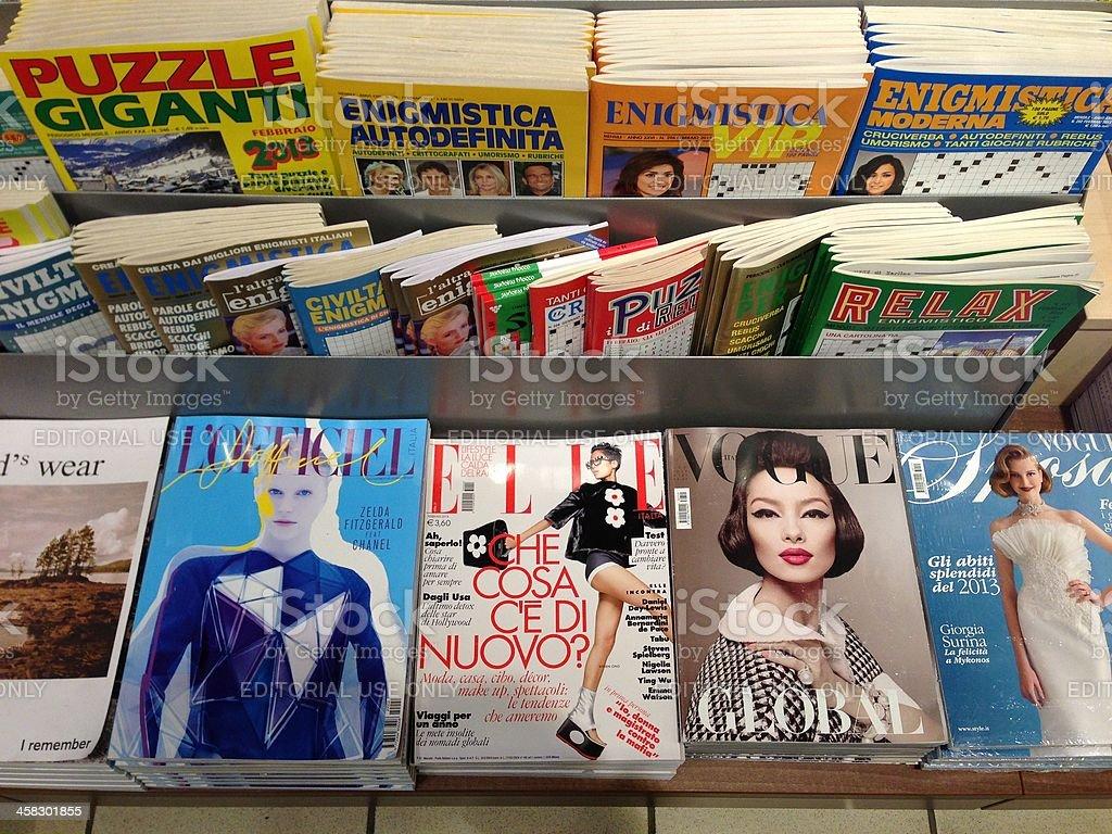 Popular french fashion magazines stock photo