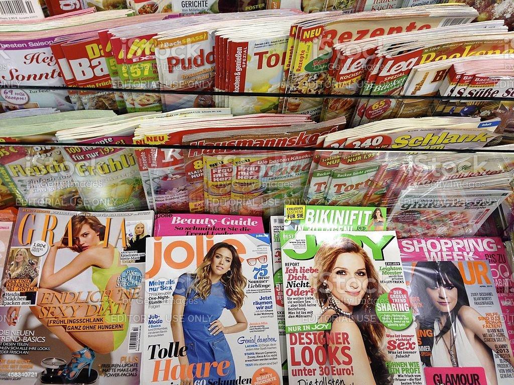 Popular german magazines royalty-free stock photo