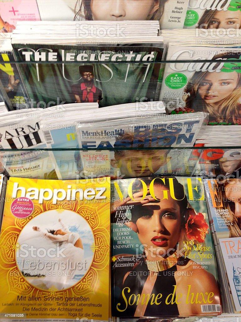 Popular german magazines stock photo