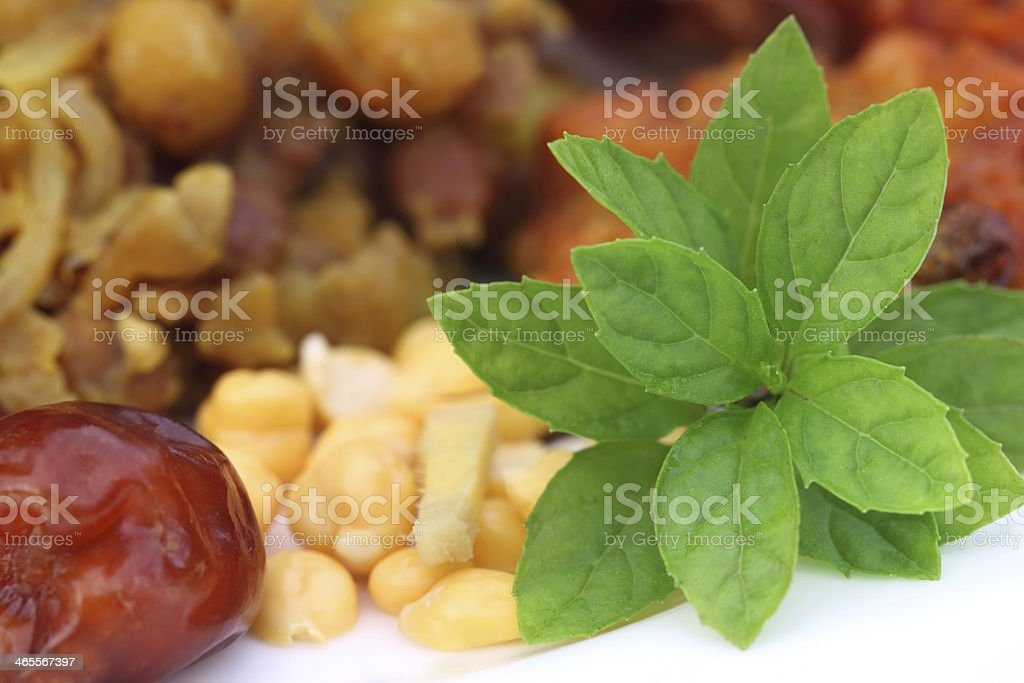 Popular Iftar items for holy Ramadan royalty-free stock photo