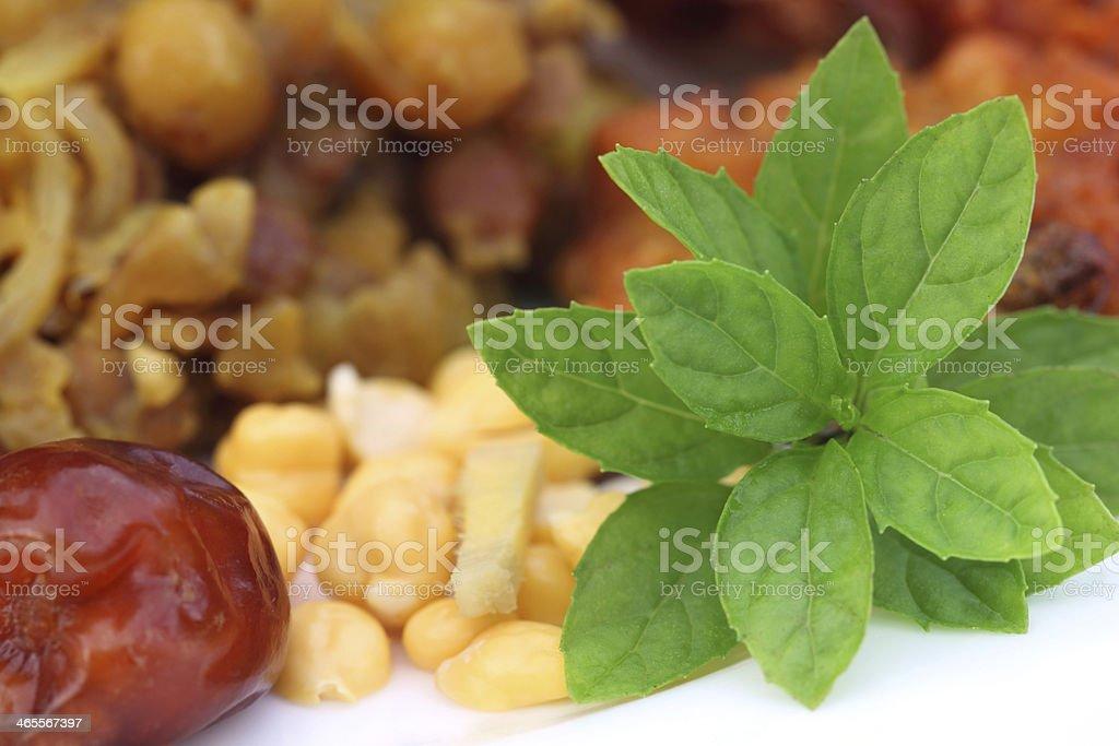 Popular Iftar items for holy Ramadan stock photo