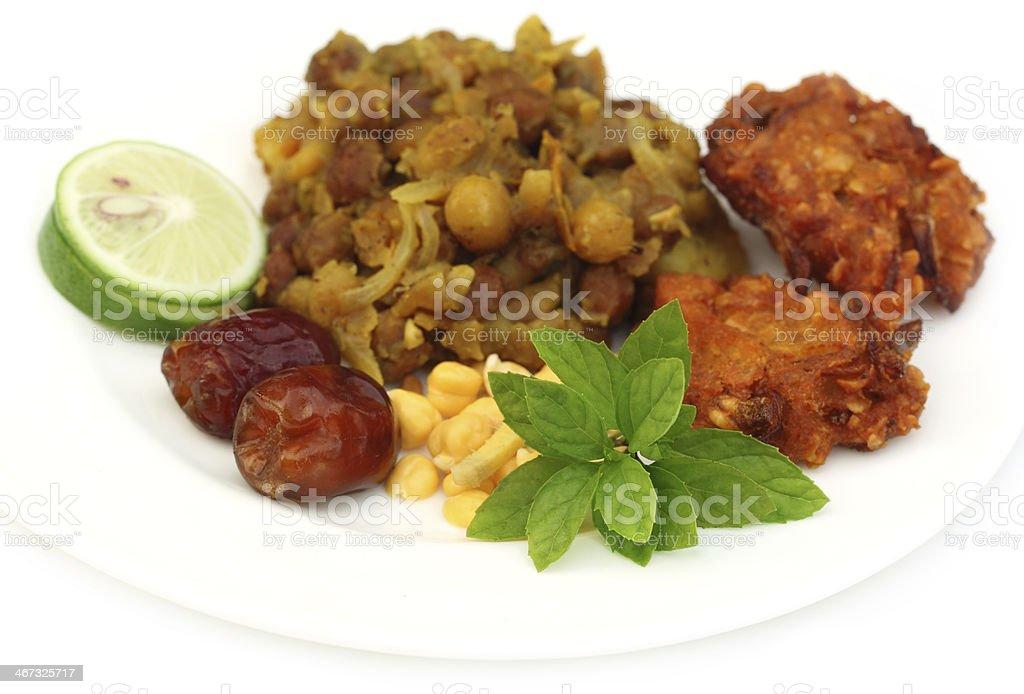 Popular Iftar items of Bangladesh stock photo