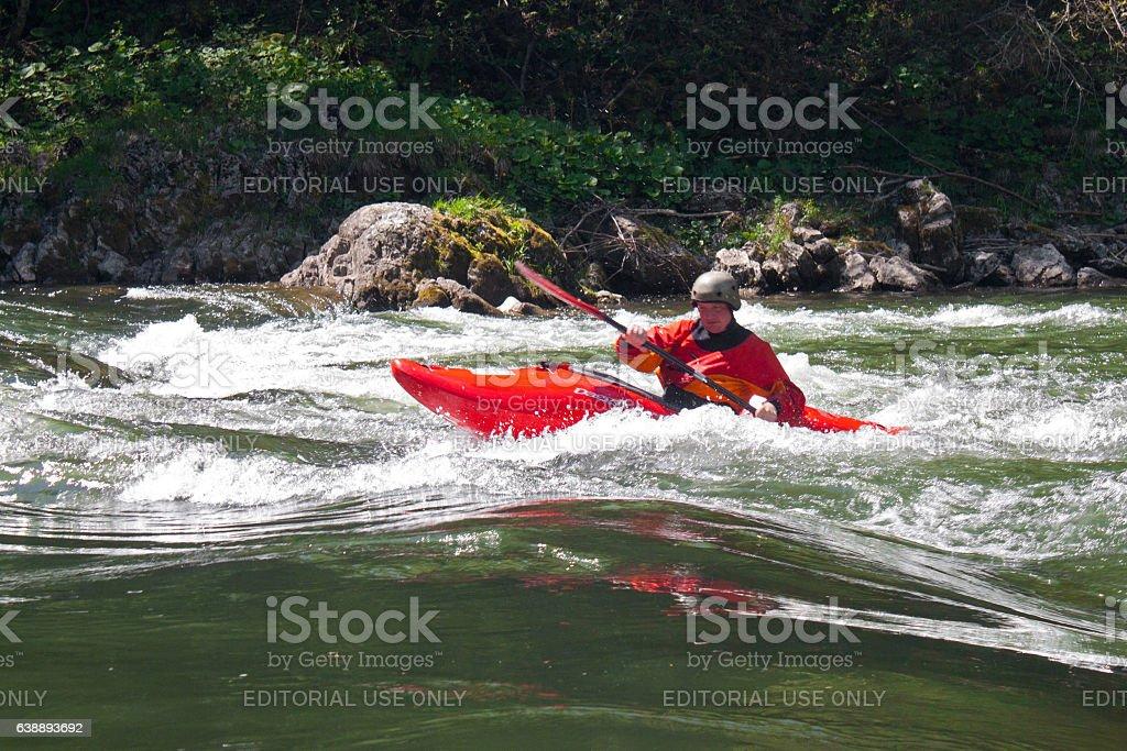 Popular kayaking on the Dunajec. stock photo