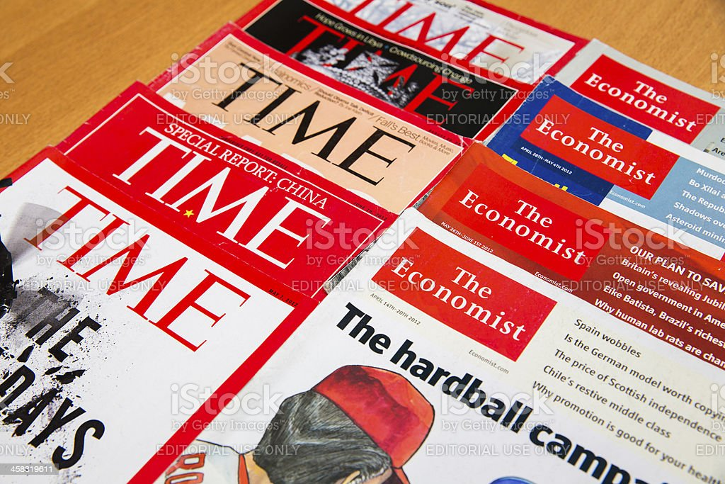 Popular Magazines royalty-free stock photo
