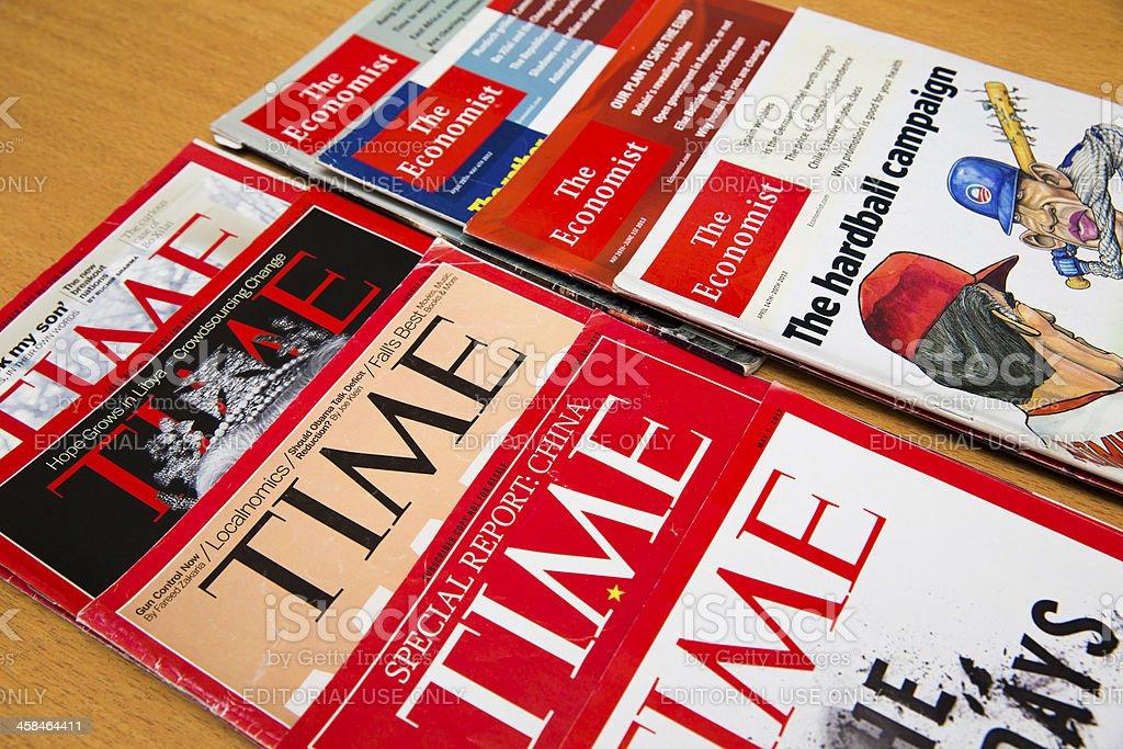 Popular Magazines stock photo