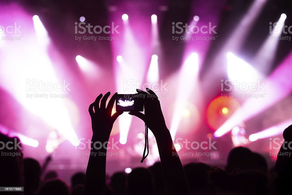Popular music concert royalty-free stock photo