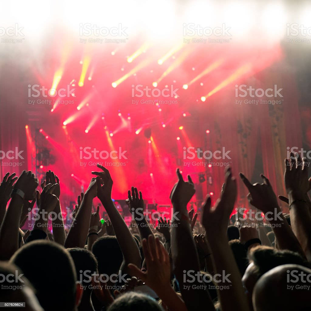 Popular music concert stock photo