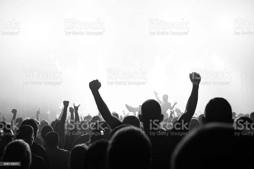 Popular music concert stock photo