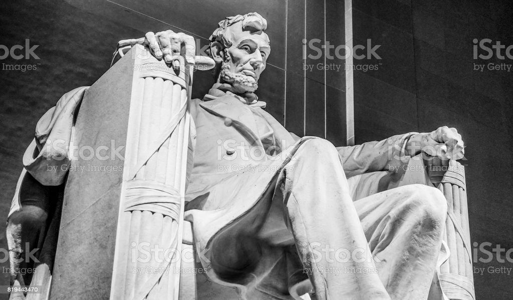Popular Place in Wahington DC - The Lincoln Memorial stock photo