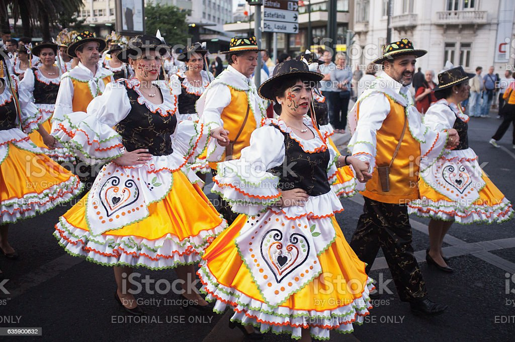 Popular Saints Celebrations in Lisbon stock photo