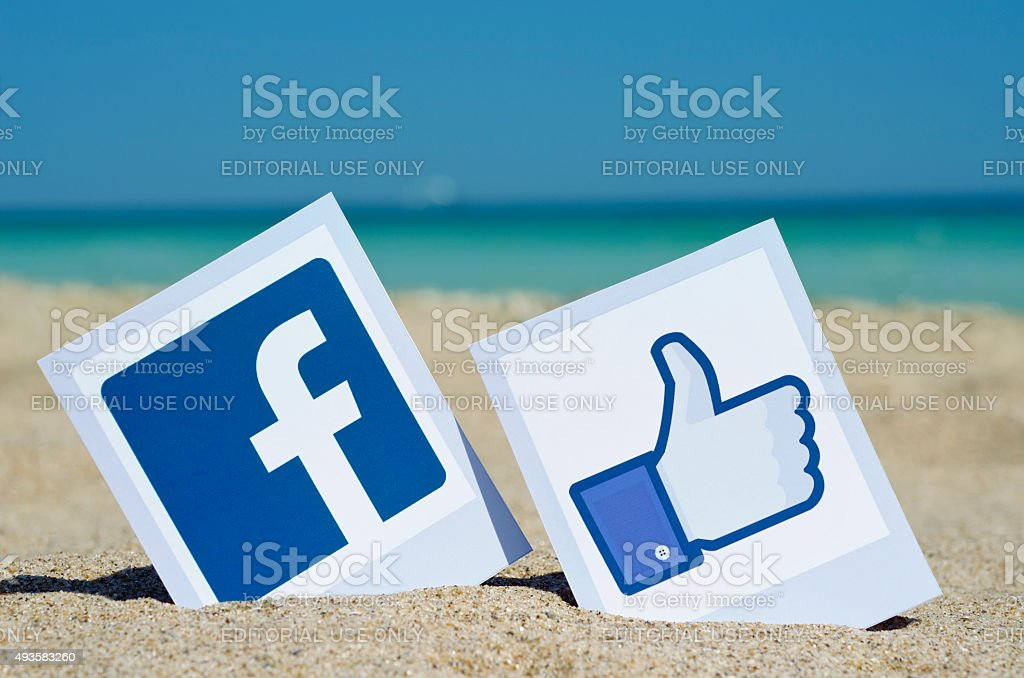 Popular social media icon stock photo