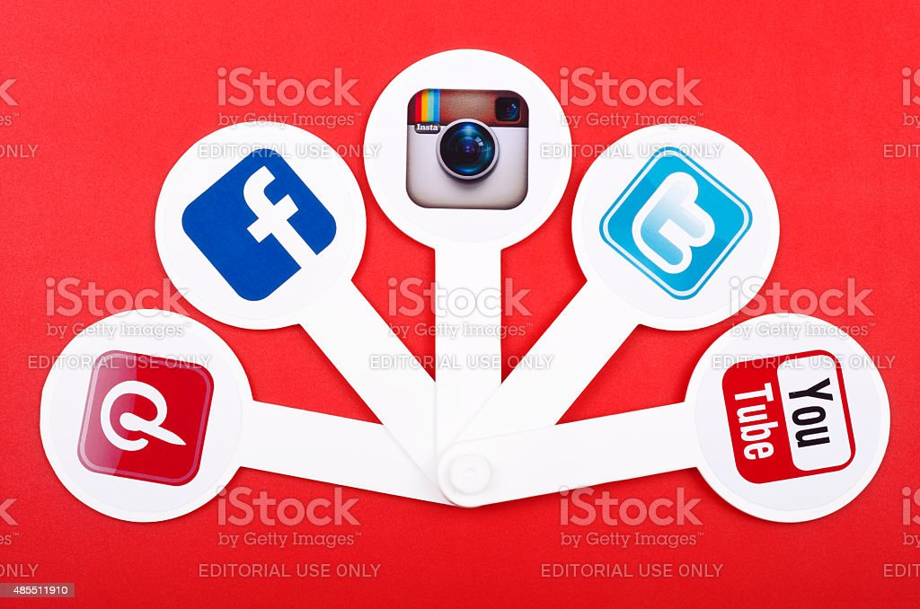 Popular social media. stock photo