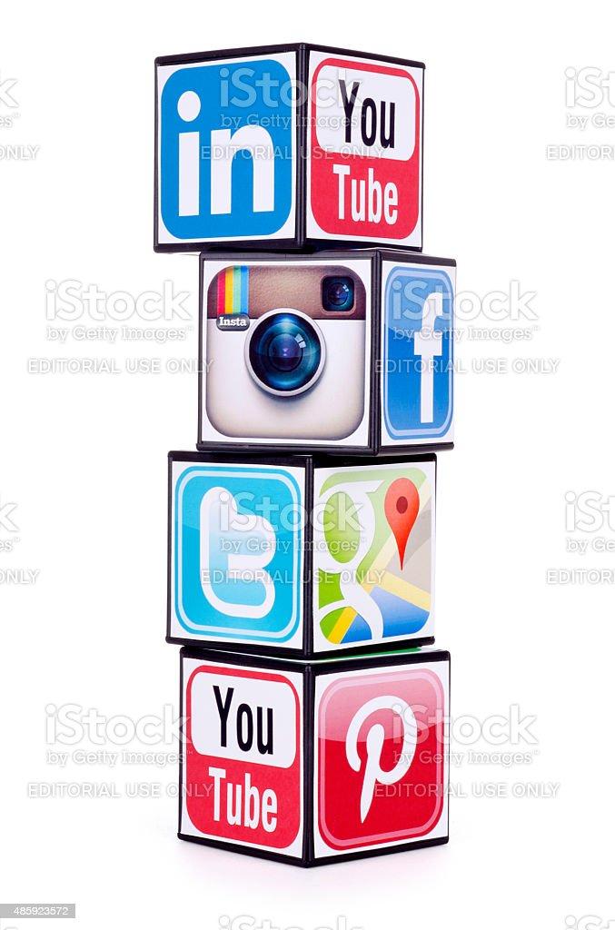 Popular social media stock photo
