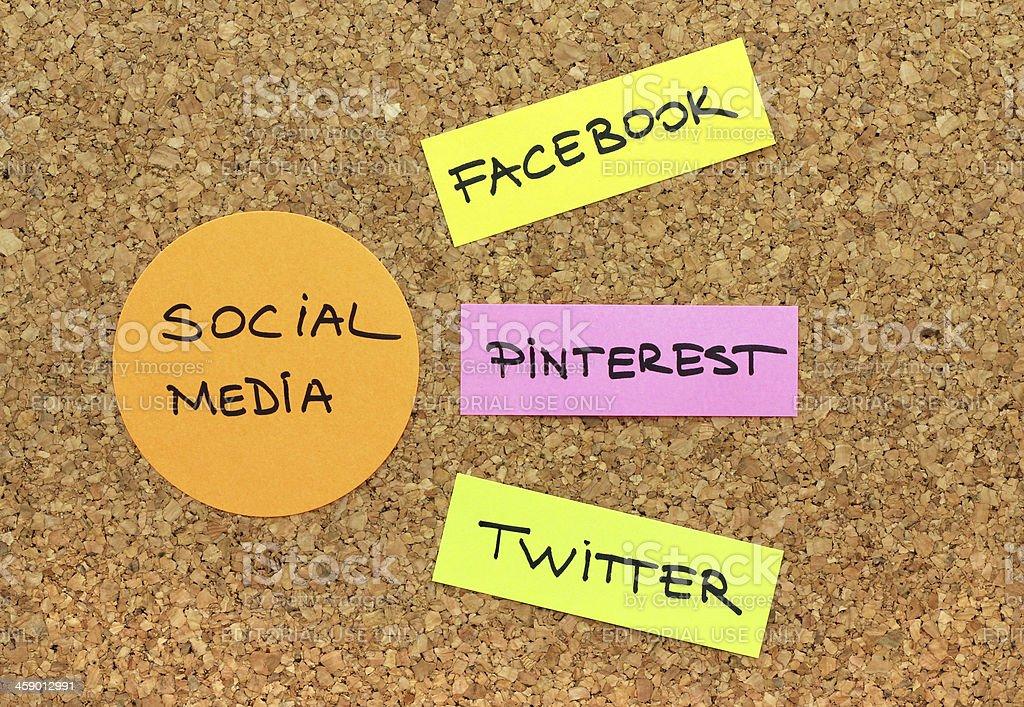 Popular social media websites royalty-free stock photo
