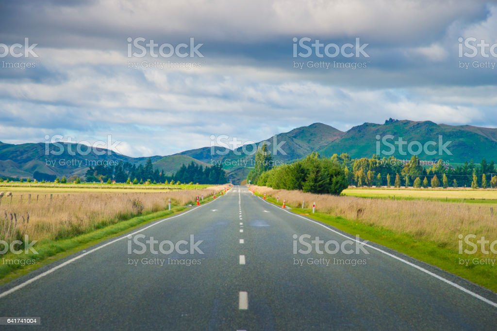 Popular spectacular view of south island New Zealand stock photo