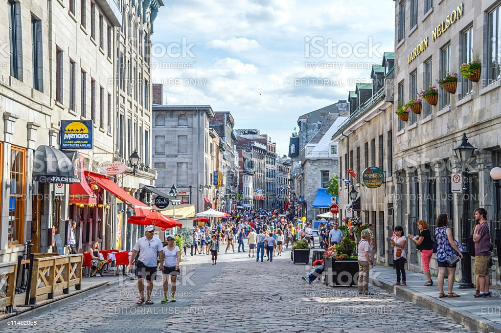 Popular St Paul street. stock photo