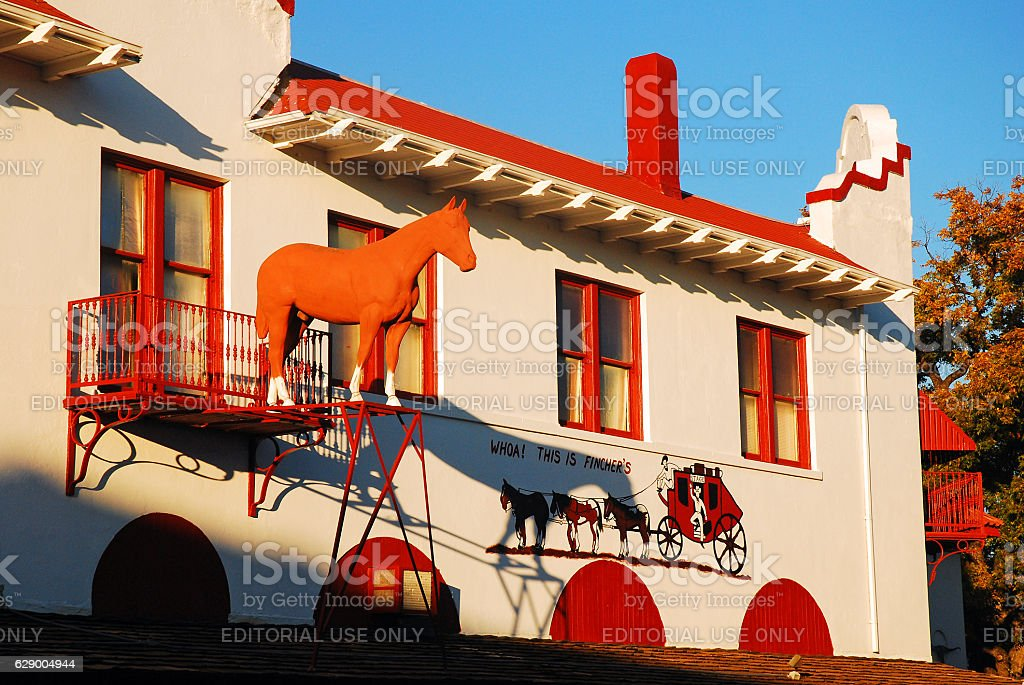 Popular Western Store in Ft Worth Stockyards stock photo