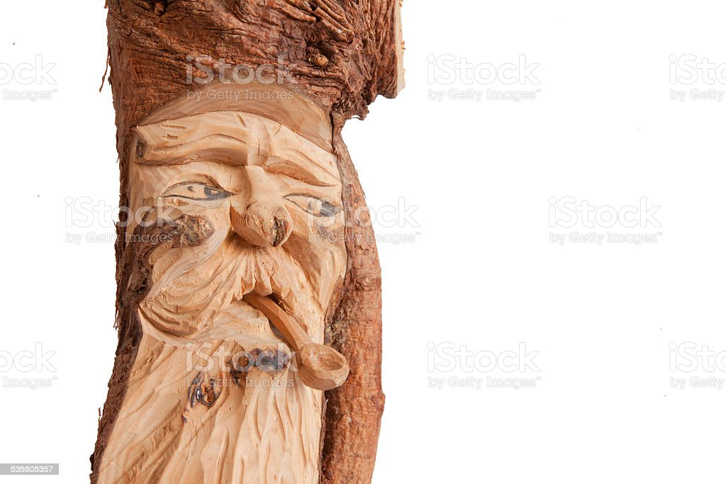 Popular wood sculpture from South Tyrol, Italy stock photo