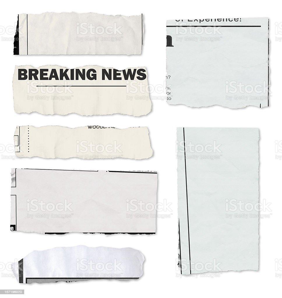 'Populated' newspaper tears stock photo