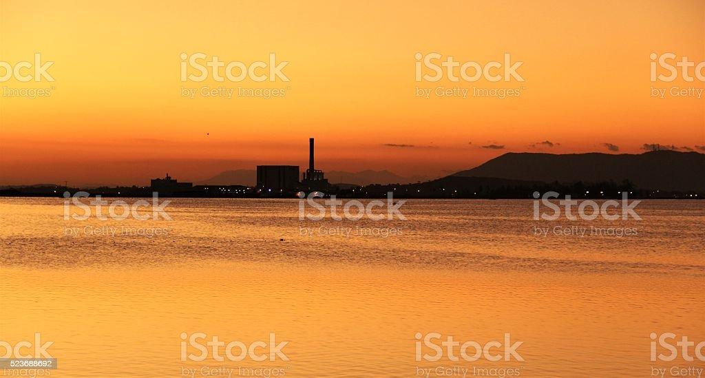 Por do sol em Cabo Frio stock photo