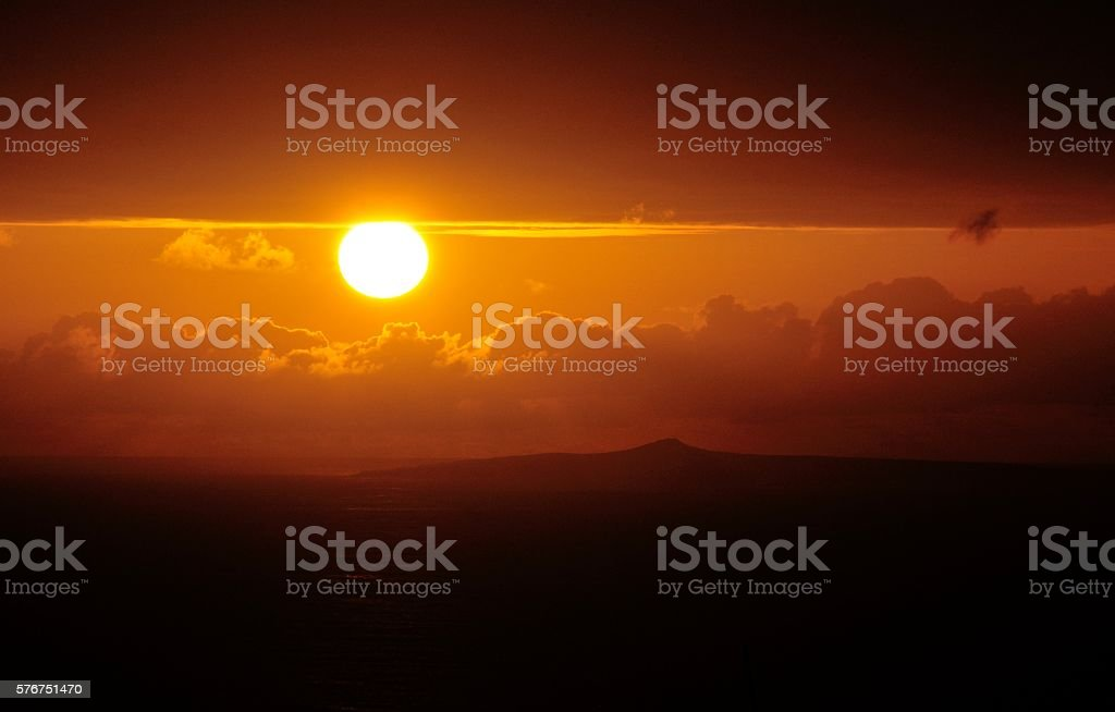 Por do sol stock photo
