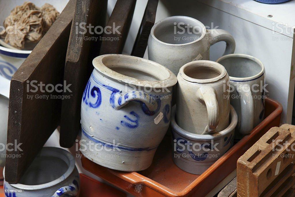Porcelain at flea market royalty-free stock photo
