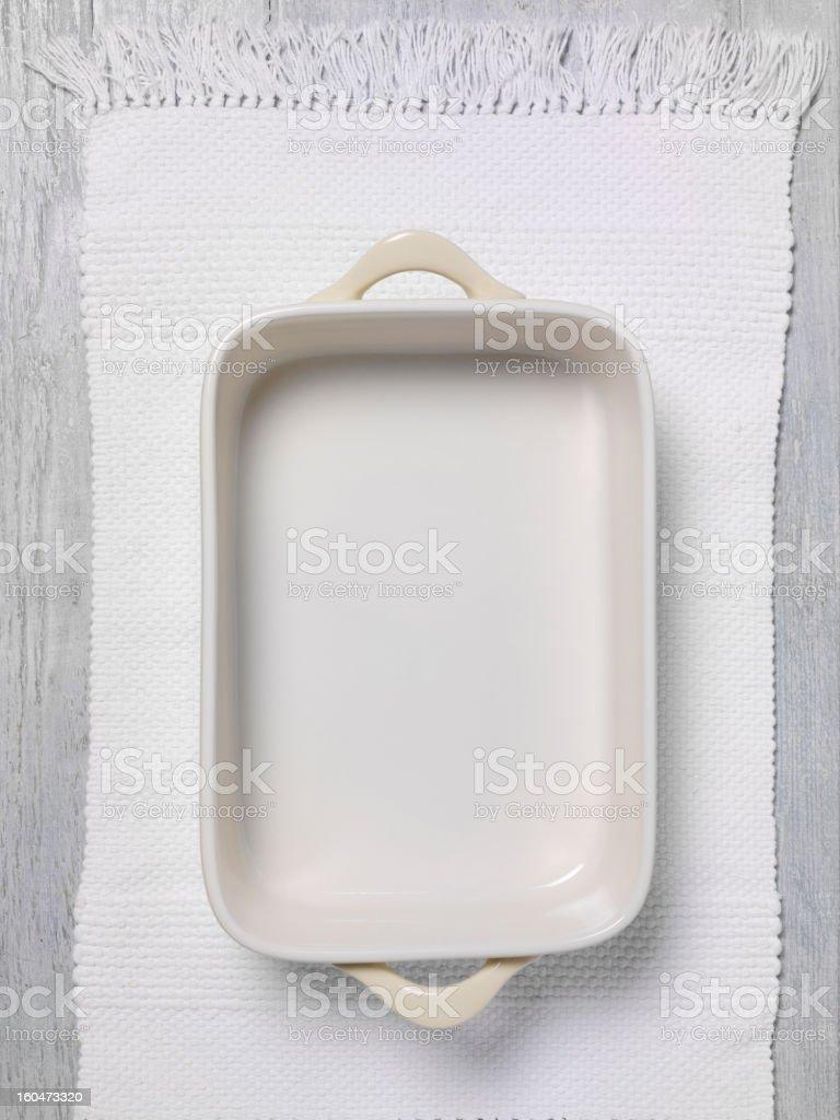 Porcelain Baking Dish stock photo