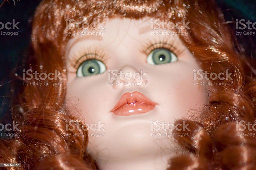Porcelain belle doll stock photo